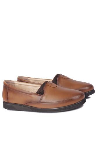 Fitbas - Fitbas 155001 167 Kadın Taba Hakiki Deri Günlük Büyük Numara Ayakkabı (1)