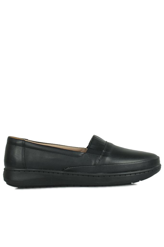 Fitbas 155004 014 Kadın Siyah Günlük Büyük Numara Ayakkabı