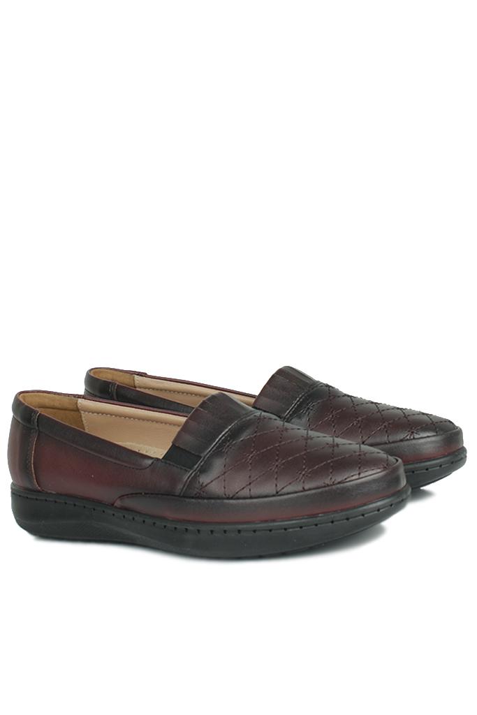 Fitbas 155008 624 Kadın Bordo Günlük Büyük Numara Ayakkabı