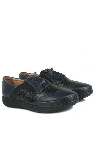 Fitbas - Fitbas 155028 405 Kadın Siyah Lacivert Günlük Büyük Numara Ayakkabı (1)