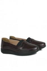 Fitbas 155032 624 Kadın Bordo Günlük Büyük Numara Ayakkabı - Thumbnail