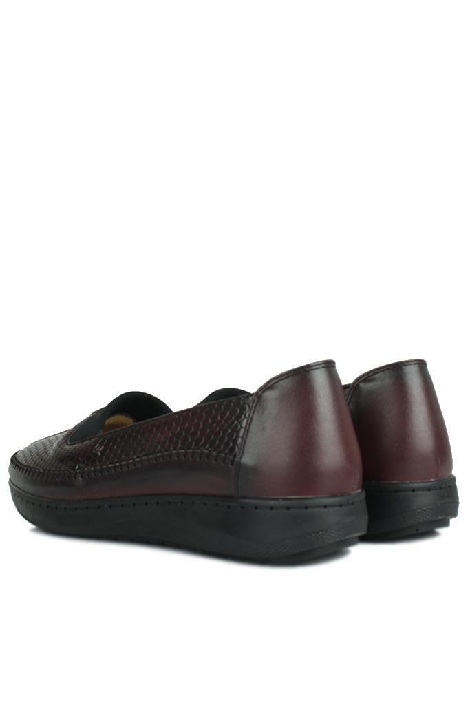 Fitbas 155032 624 Kadın Bordo Günlük Büyük Numara Ayakkabı