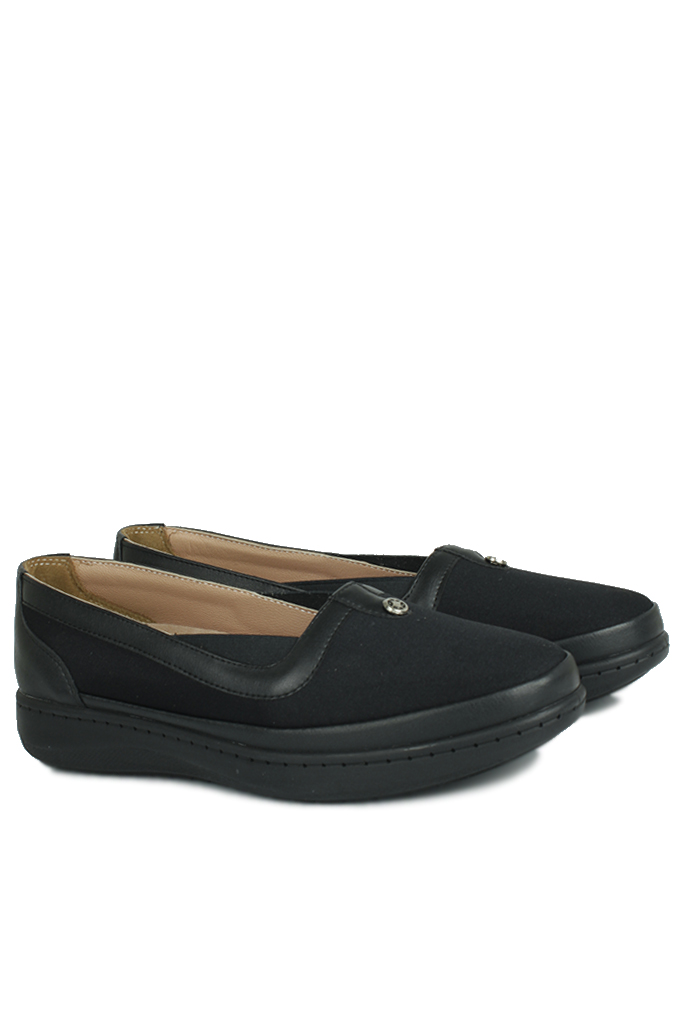 Fitbas 155039 014 Kadın Siyah Günlük Büyük Numara Ayakkabı