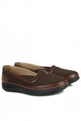 Fitbas 155039 232 Kadın Kahve Günlük Büyük Numara Ayakkabı - Thumbnail
