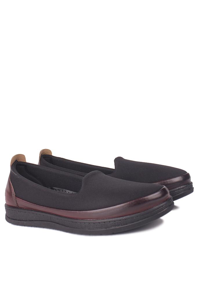 Fitbas 155058 064 Kadın Siyah Bordo Günlük Büyük Numara Ayakkabı