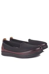 Fitbas 155058 064 Kadın Siyah Bordo Günlük Büyük Numara Ayakkabı - Thumbnail