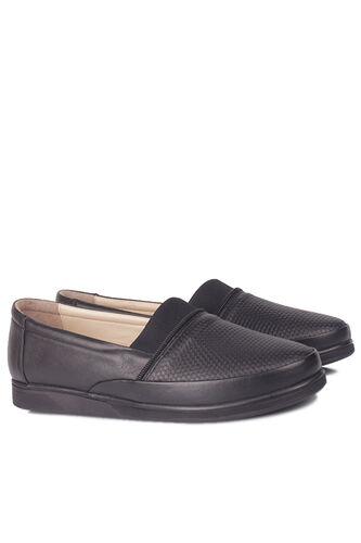 Fitbas - Fitbas 155100 013 Kadın Siyah Hakiki Deri Günlük Büyük Numara Ayakkabı (1)