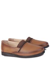 Fitbas 155100 167 Kadın Taba Hakiki Deri Günlük Büyük Numara Ayakkabı - Thumbnail