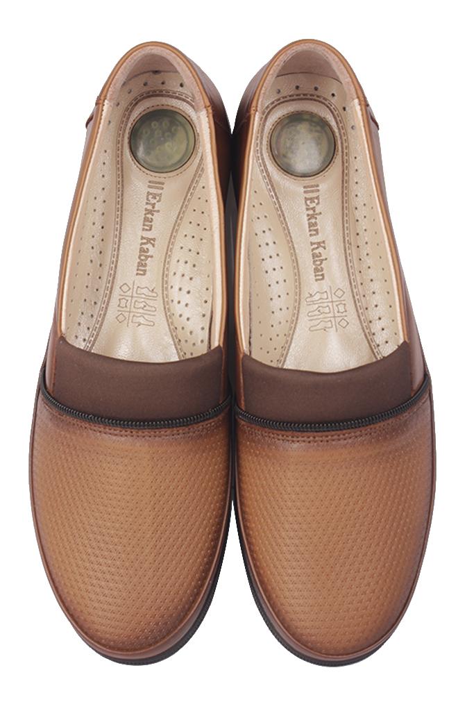 Fitbas 155100 167 Kadın Taba Hakiki Deri Günlük Büyük Numara Ayakkabı