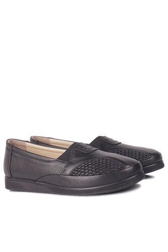 Fitbas - Fitbas 155102 013 Kadın Siyah Hakiki Deri Günlük Büyük Numara Ayakkabı (1)