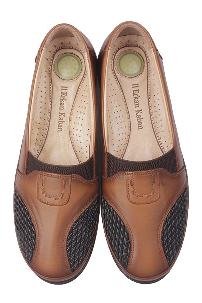 Fitbas 155102 167 Kadın Taba Hakki Deri Günlük Büyük Numara Ayakkabı