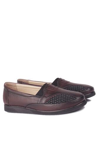 Fitbas - Fitbas 155102 624 Kadın Bordo Hakiki Deri Günlük Büyük Numara Ayakkabı (1)