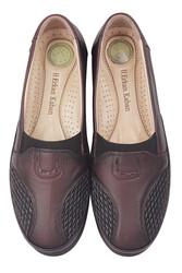 Fitbas 155102 624 Kadın Bordo Hakiki Deri Günlük Büyük Numara Ayakkabı - Thumbnail