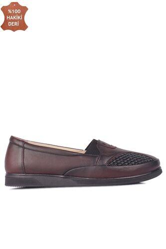 Fitbas 155102 624 Kadın Bordo Hakiki Deri Günlük Büyük Numara Ayakkabı