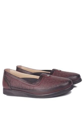 Fitbas - Fitbas 155103 624 Kadın Bordo Hakiki Deri Günlük Büyük Numara Ayakkabı (1)