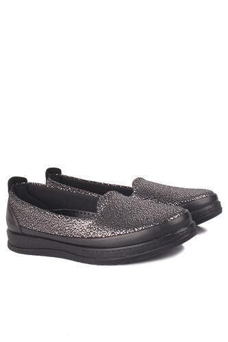 Fitbas - Fitbas 155401 014 Kadın Gümüş Siyah Günlük Büyük Numara Ayakkabı (1)