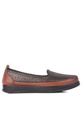 Fitbas 155401 167 Kadın Altın Taba Günlük Büyük Numara Ayakkabı - Thumbnail