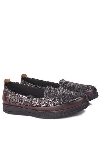 Fitbas - Fitbas 155401 624 Kadın Gümüş Bordo Günlük Büyük Numara Ayakkabı (1)