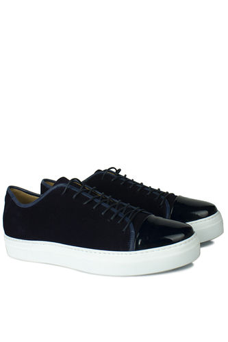 Erkan Kaban - Erkan Kaban 385001 425 Lacivert Süet Lacivert Rugan Erkek Ayakkabı (1)