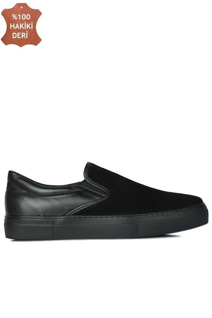 Erkan Kaban 385003 025 Siyah Süet Siyah Matt Erkek Büyük Numara Ayakkabı