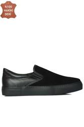 Erkan Kaban 385003 025 Siyah Süet Siyah Matt Erkek Büyük Numara Ayakkabı - Thumbnail