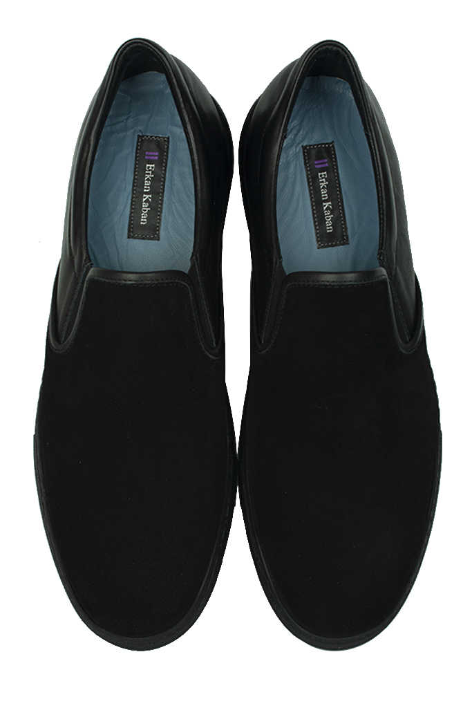 Fitbas 385003 025 Siyah Süet Siyah Matt Erkek Büyük Numara Ayakkabı