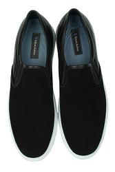 Erkan Kaban 385003 015 Siyah Süet Siyah Matt Erkek Büyük Numara Ayakkabı - Thumbnail