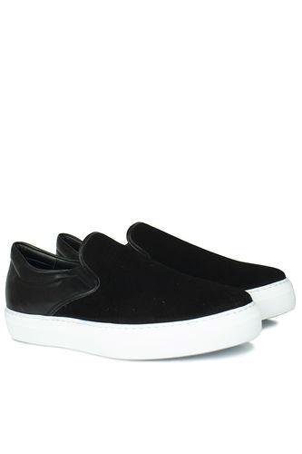 Fitbas - Fitbas 385003 015 Siyah Süet Siyah Matt Erkek Büyük Numara Ayakkabı (1)