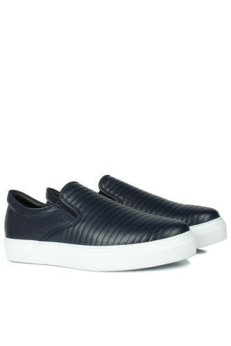 Erkan Kaban - Erkan Kaban 385006 424 Navy Blue Matt Men Shoes (1)
