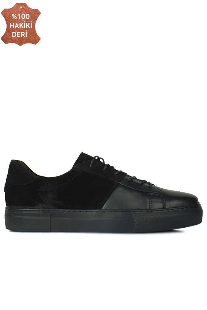 Erkan Kaban 385004 025 Siyah Matt - Siyah Nubuk Erkek Büyük Numara Ayakkabı