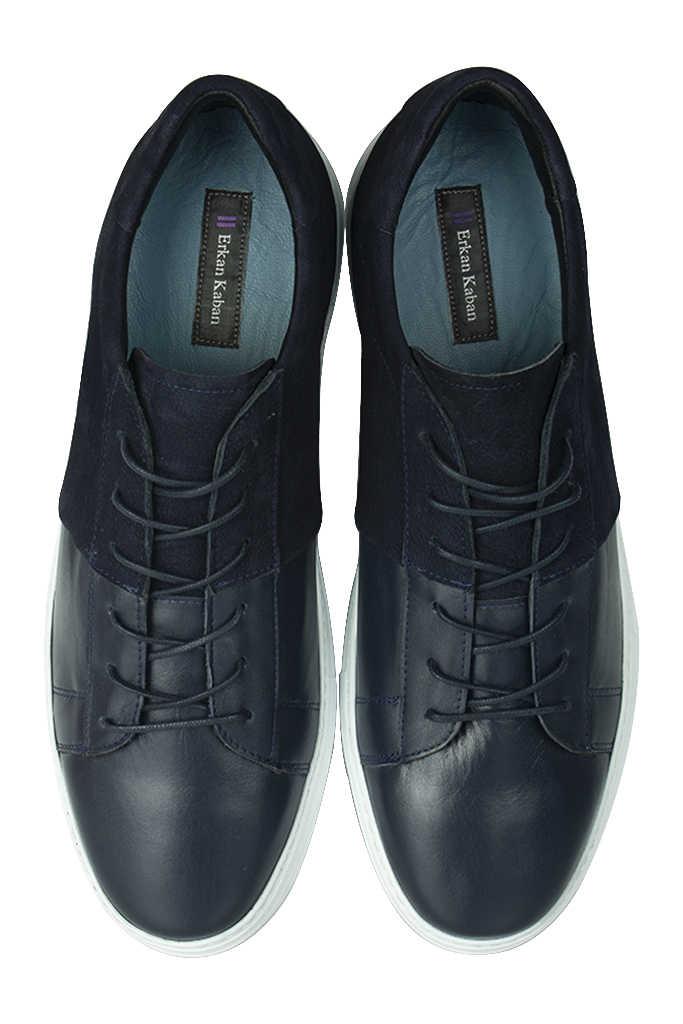 Erkan Kaban 385004 425 Lacivert Matt - Lacivert Nubuk Erkek Büyük Numara Ayakkabı