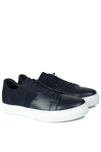 Erkan Kaban - Erkan Kaban 385004 425 Navy Blue Matt - Navy Blue Nubuck Men Shoes (1)