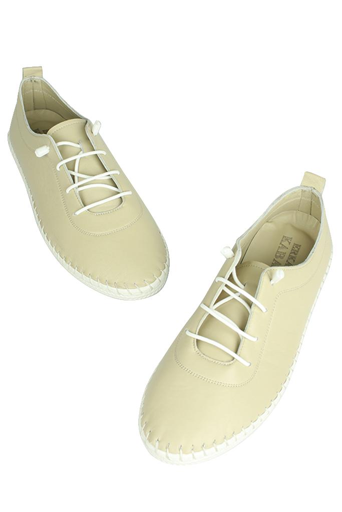 Fitbas 625041 324 Kadın Ten Deri Günlük Büyük Numara Ayakkabı
