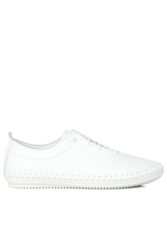 Fitbas 625041 468 Kadın Beyaz Deri Günlük Büyük Numara Ayakkabı