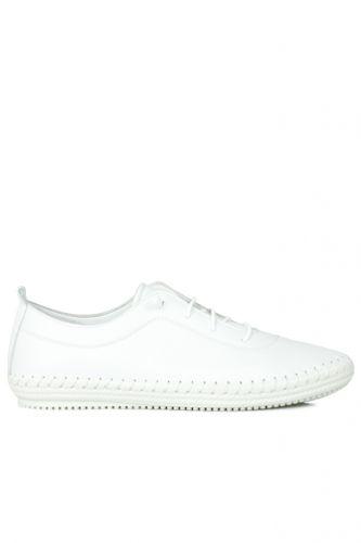 Fitbas - Fitbas 625041 468 Kadın Beyaz Deri Günlük Büyük Numara Ayakkabı (1)