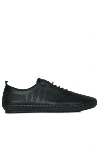 Erkan Kaban - Erkan Kaban 625042 014 Kadın Siyah Deri Günlük Büyük Numara Ayakkabı (1)
