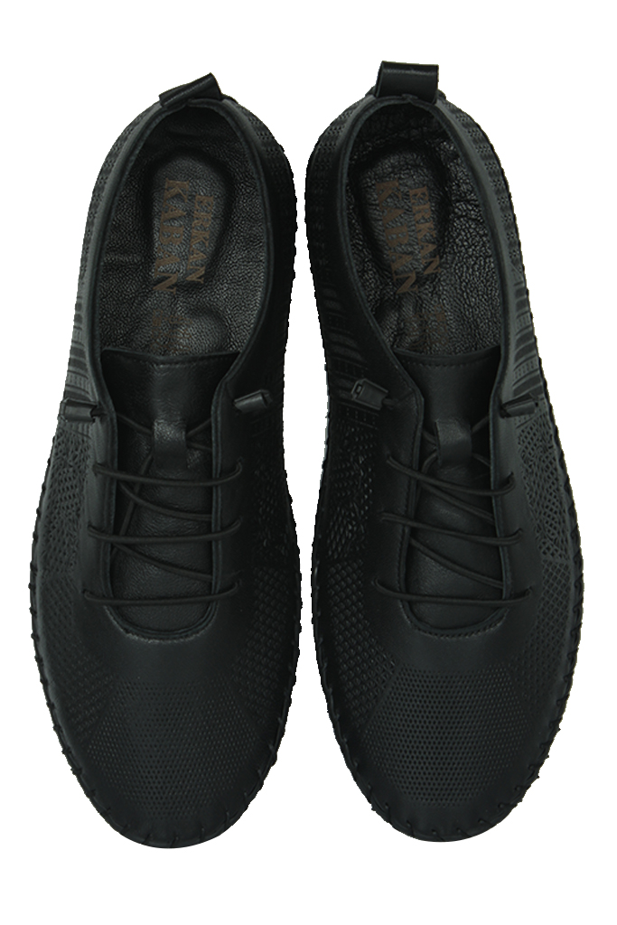 Erkan Kaban 625042 014 Kadın Siyah Deri Günlük Ayakkabı