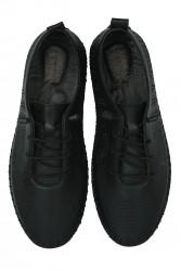 Erkan Kaban 625042 014 Kadın Siyah Deri Günlük Büyük Numara Ayakkabı - Thumbnail