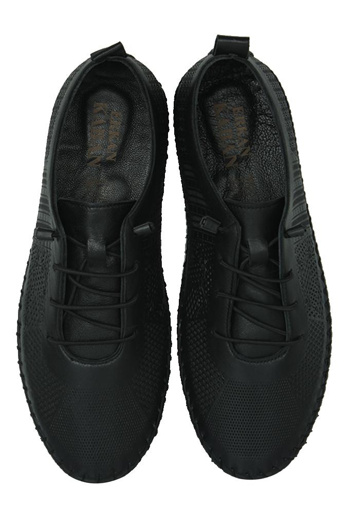 Fitbas 625042 014 Kadın Siyah Deri Günlük Büyük Numara Ayakkabı