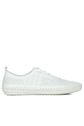 Fitbas - Fitbas 625042 468 Kadın Beyaz Deri Günlük Büyük Numara Ayakkabı (1)