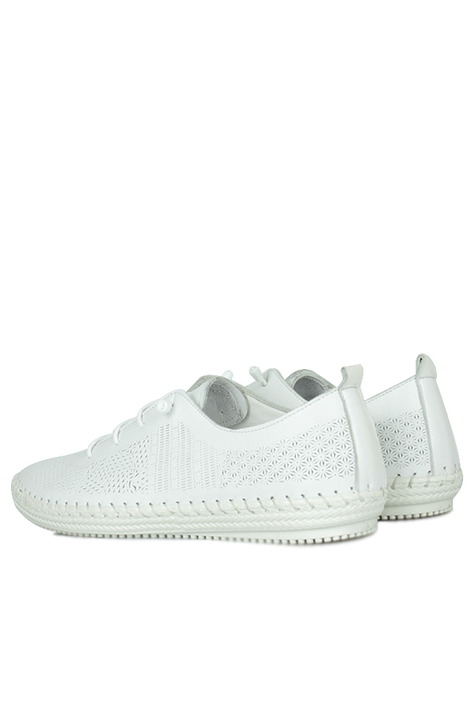 Fitbas 625042 468 Kadın Beyaz Deri Günlük Büyük Numara Ayakkabı