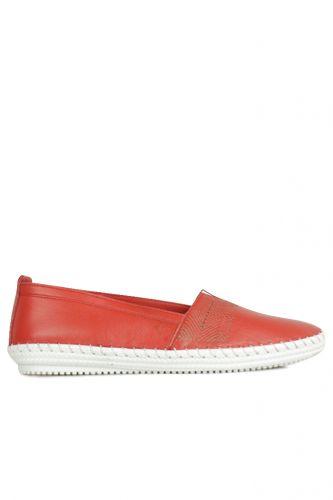 Fitbas - Fitbas 625043 524 Kadın Kırmızı Deri Günlük Büyük Numara Ayakkabı (1)