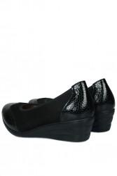 Fitbas 6402 025 Kadın Siyah Günlük Büyük & Küçük Numara Ayakkabı - Thumbnail
