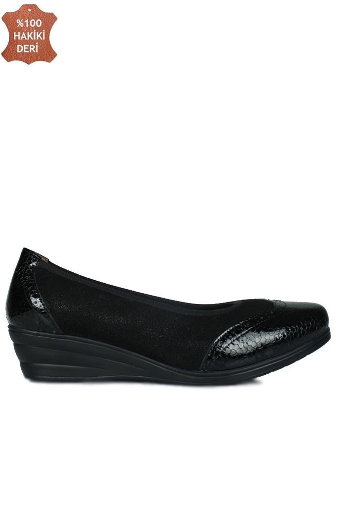 Fitbas 6402 025 Kadın Siyah Günlük Büyük & Küçük Numara Ayakkabı