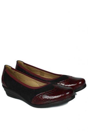 33 34 41 42 43 44 45 Küçük Büyük Numara Kadın Ayak - Erkan Kaban 6402 625 Kadın Bordo Günlük Ayakkabı (1)