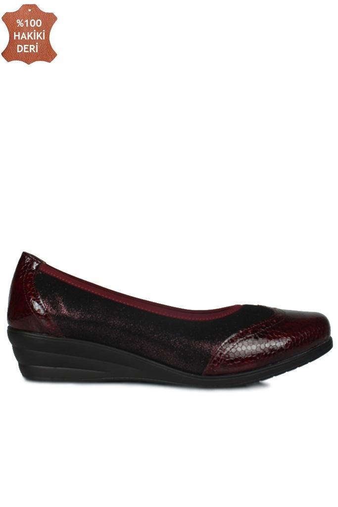 Fitbas 6402 625 Kadın Bordo Günlük Büyük & Küçük Numara Ayakkabı