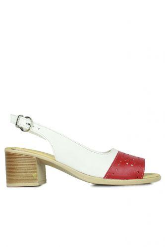 Fitbas - Fitbas 7293 563 Kadın Kırmızı White Topuklu Ayakkabı (1)