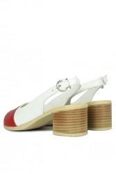 Fitbas 7293 563 Kadın Kırmızı White Topuklu Ayakkabı - Thumbnail