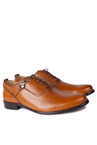 Fitbas - Fitbas 801 162 Erkek Taba Deri Klasik Büyük & Küçük Numara Ayakkabı (1)