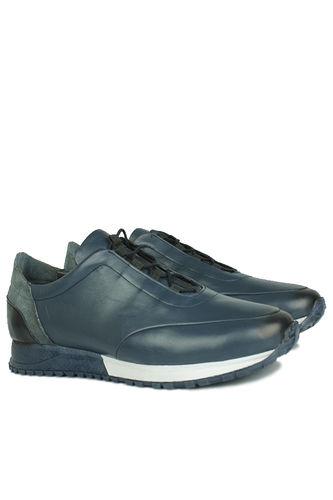 Fitbas - Erkan Kaban 914510 424 Men Navy Blue Genuine Leather Sport Shoes (1)